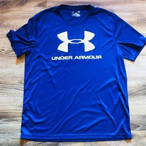 NWOT Under Armour Men's Blue & White T-shirt L